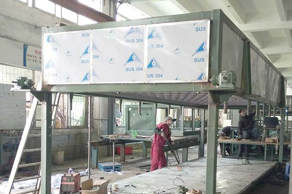Direct Cooling Type Block Ice Machine Is Assembling