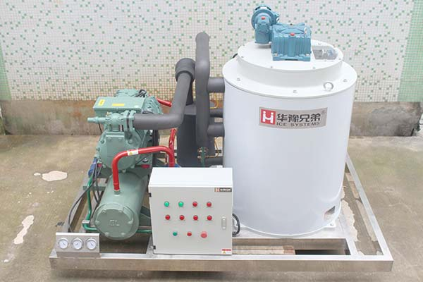 Flake Ice Machine With Water Cooling Condenser