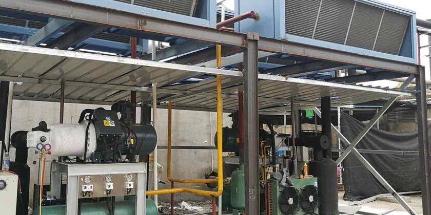 BIF-25TA 25Tons Industrial Flake Ice Making Machine With Air Cooling Method For Concrete Cooling Project