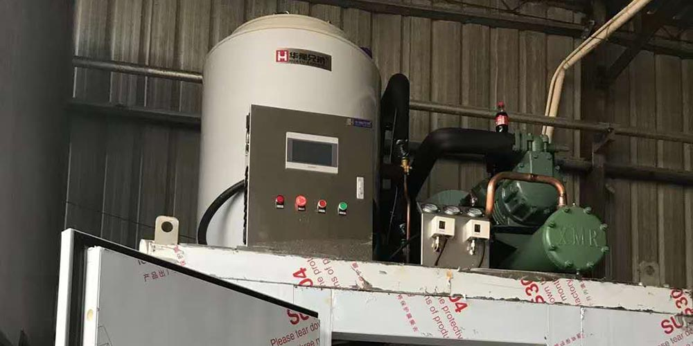BIF-5TW 5Tons Water Cooled Flake Ice Machine Installed